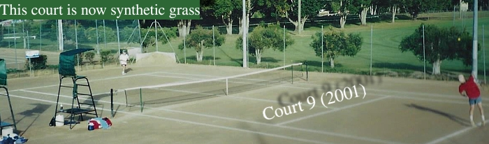 Caboolture Tennis history album page court 9 old